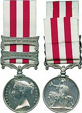 INDIAN MUTINY MEDAL, 1857-1858, 2 clasps, Lucknow