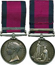 MILITARY GENERAL SERVICE MEDAL, 1793-1814, single clasp, Nive