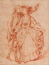 Follower of Jean-Antoine Watteau, An elegant