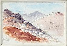 William Callow (1812-1908), Mountainous landscape