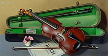 Frederick Clifford Harrison (1901-1984) - A trompe l'oeil with a violin