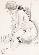 δ Ronald Ossory Dunlop (1894-1973). Seated