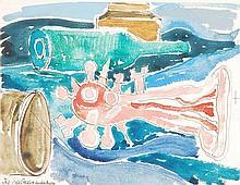 δ John Bratby (1928-1992). The Sea Creature.