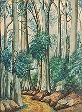 Ben Enwonwu (1921-1994). Siloko Road. Watercolour.
