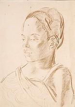 Ben Enwonwu (1921-1994). Study for a portrait.