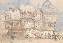 William Callow R.W.S. (1812-1908). Hotel of the