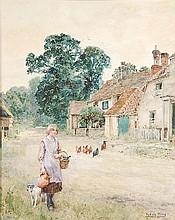 Henry John Yeend King (1855-1924). Farm girl near