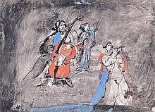 δ Andre Elbaz (b.1934). Les Alequins. Ink and