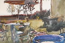 δ Howard Morgan (b.1949). Garden scene.
