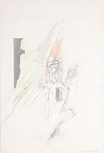 δ Bryan Organ (b.1935). Abstract. Pencil and