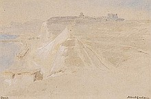Albert Goodwin (1845-1932). Dover. Watercolour and