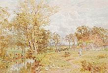 Thomas Henry Hunn (1856-1928). Fetching water.