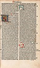 Latin. Biblia Latina , edited by Petrus Angelus de Monte Ulmi, double column
