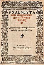 Psalter.- - Psalmista iuxta Consuetudinem Sancte Romane Ecclesie,