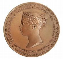 Royal Agricultural Society, 50th Anniversary 1889, bronze medal by W