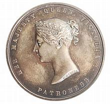 Royal Agricultural Society, silver prize medal 1840, by W
