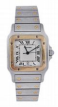 Cartier, Santos, a midi two colour bracelet wrist
