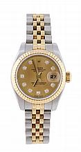 Rolex, Datejust, a lady's two colour wristwatch,