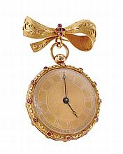 A Swiss gold open face pocket watch, circa 1830,