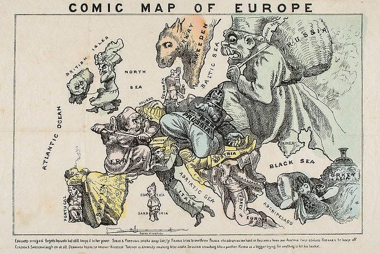 [Hadol (Paul)] - Comic Map of Europe,