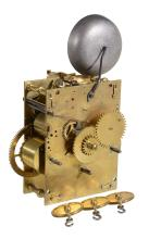 A William III eight-day musical longcase clock movement Unsigned