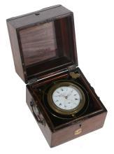 A rare Regency one-day marine chronometer with Brockbanks 'affix' balance...