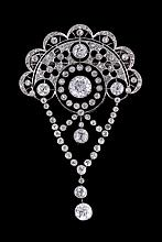 A diamond Belle Epoque brooch, circa 1910, the