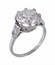 A single stone diamond ring, the brilliant cut
