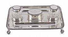 An Edwardian silver inkstand by Horace Woodward & Co. Ltd