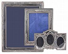 A silver mounted rectangular photo frame by Carr's of Sheffield Ltd