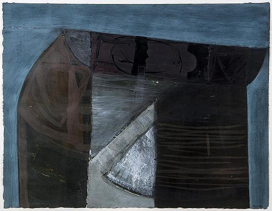 Peter Joyce (b.1964) West of Round Down, acrylic