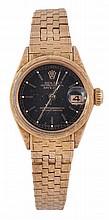 Rolex, Datejust, a lady's 18 carat gold bracelet
