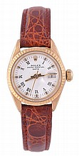 Rolex, Oyster Perpetual Date, a lady's 18 carat