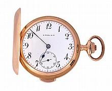 G. Wahl & Co., an 18 carat gold hunter minute