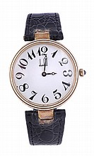 Dunhill, a gentleman's silver gilt wristwatch,