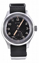 Cyma, a gentleman's stainless steel military
