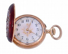 A slim 18 carat gold late 19th century Hunter