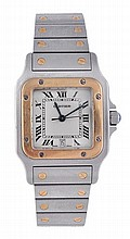 * Cartier, Santos, a midi two colour bracelet