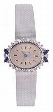 Longines, a lady's 18 carat white gold wristwatch,