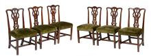A set of six mahogany dining chairs , 19th century