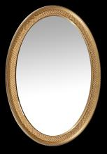 A gilt wood oval mirror in the 18th century style , 102cm high, 71cm wide