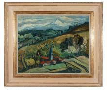 Celso Lagar (Spanish,1891-1966) - Landscape near Ceret