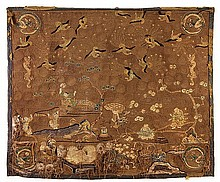A Japanese Textile Wall Hanging, Meiji period,