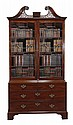 A George III mahogany cabinet on chest, circa