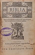 Bible, - Latin. Biblia , lacks 11 ff. preliminaries, 3m2 - 3p4 [i.e