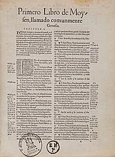 Bible, - Spanish. [La Biblia], Old Testament only, translated by Cassiodoro...