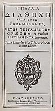 Bible, - Greek . He Palaia Diatheche [sic ] kata tous Ebdomekonta [ graece ]