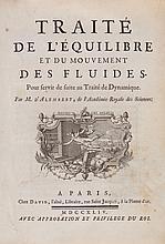 D'Alembert (Jean Le Rond) - Traité De L'Équilibre Et Du Mouvement Des Fluides,