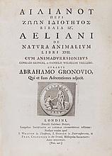 Aelianus (Claudius) - Peri Zoon Idiotetos Biblia [graece] De Natura Animalium libri XVII