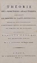 Lagrange (J[oseph] L[ouis]) - Théorie Des Fonctions Analytiques,
